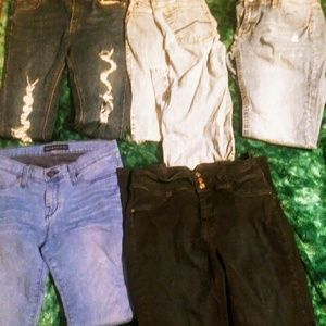Lot 5 pairs of jeans, size 9
